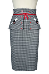Roman Holiday Peplum Skirt (Check)