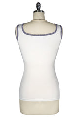 Roman Holiday Vespa Print Sleeveless Top (Ivory)