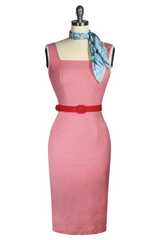 The Lucky Country Scarf Wiggle Dress (Red)