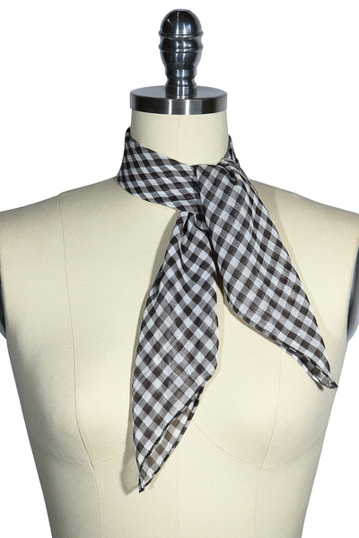 D'Amour Check Scarf (Black)