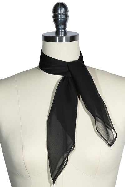 D'Amour Sheer Scarf (Black)