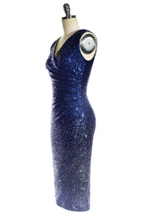 Sequin Vamp Dress (Navy & Silver)