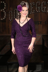 Stardust Vamp Wiggle Dress (Grape)