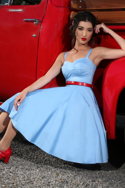 The Lucky Country Bustier Dress (Blue)