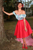 The Lucky Country Plain Circle Skirt (Red)