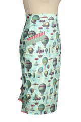 Up Up and Away Wiggle Bustle Skirt