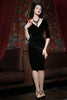 Velvet Vamp Dress (Black)