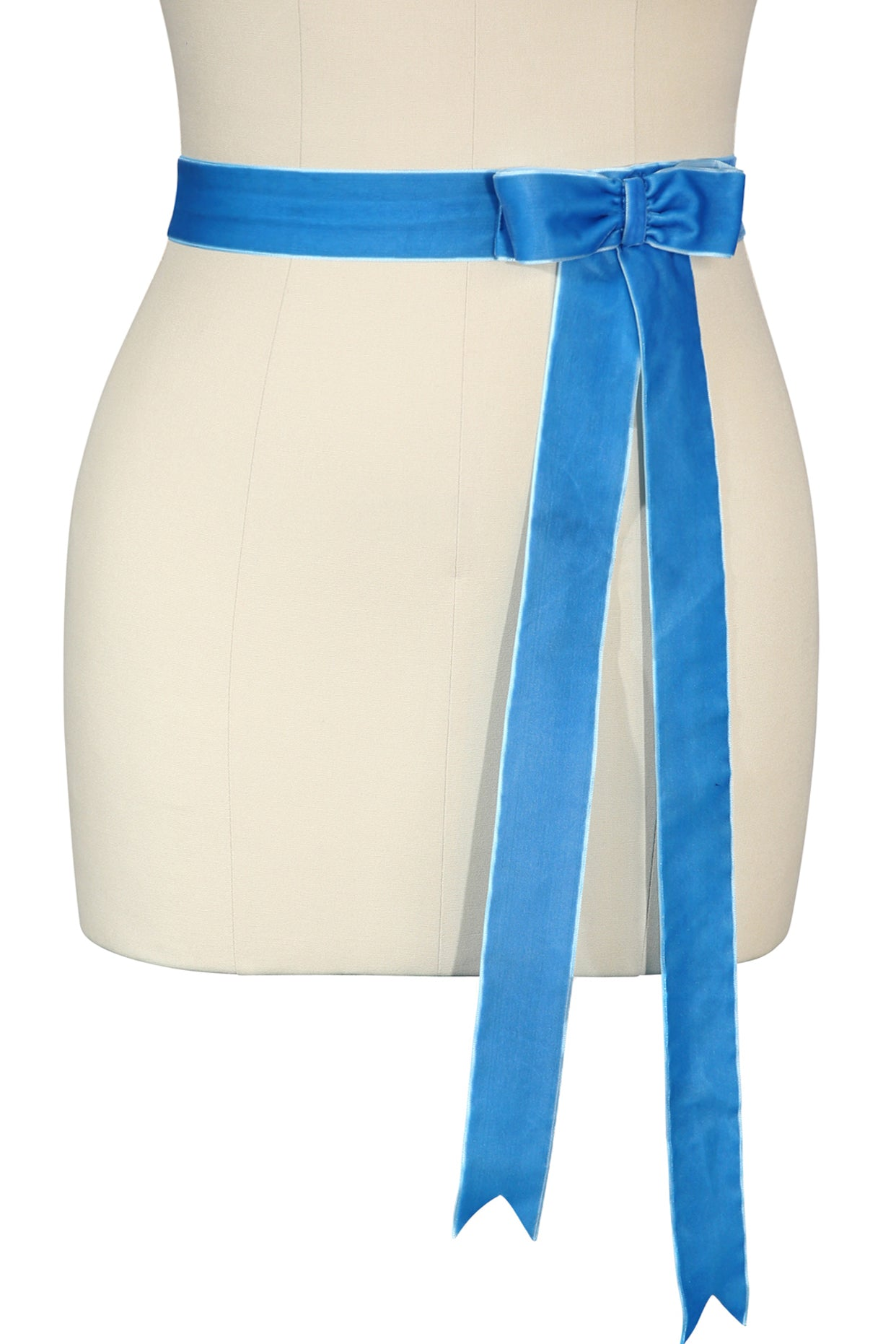 D'Amour Velvet Bow Belt (Peacock Blue)
