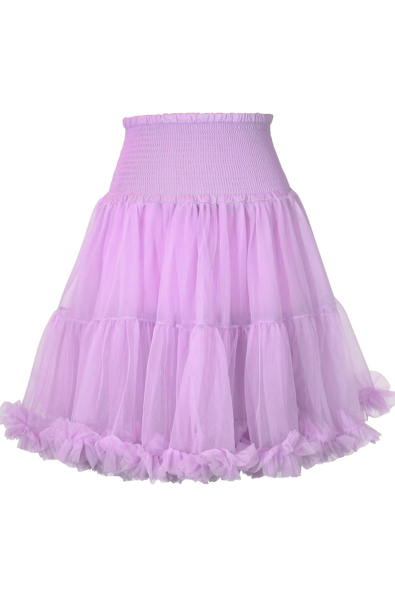Luxury Shirred Petticoat (Lilac)