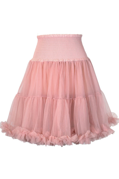 Luxury Shirred Petticoat (Dusty Pink)