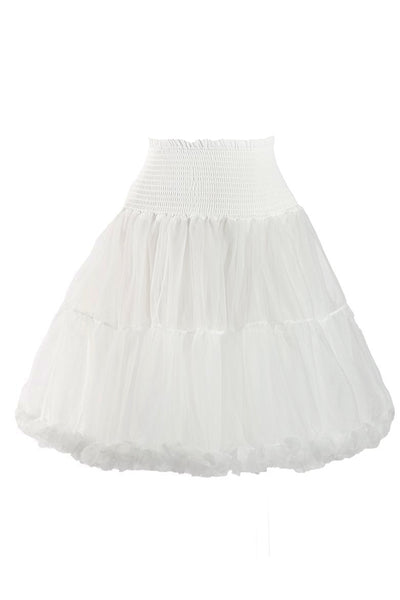 Luxury Shirred Petticoat (Off White)