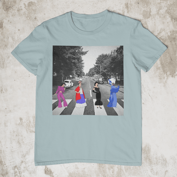 Calle Abbey -Unisex Dusty Blue T-Shirt