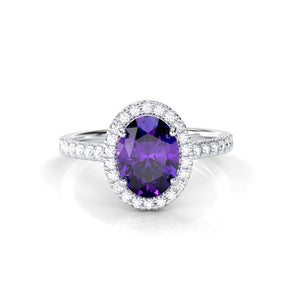 Amethyst, the Gorgeous Healing Stone of Nature as Promissory and Engagement Ring
