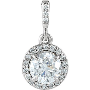 Diamond Halo-Style Pendants
