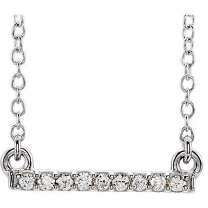 ".07 CTW Petite Diamond Bar18"" Necklace - Giliarto"