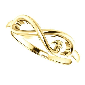 Infinity-Inspired Heart Ring 14K Gold - Giliarto