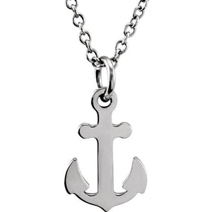 "Gold Anchor 18"" Necklace - Giliarto"