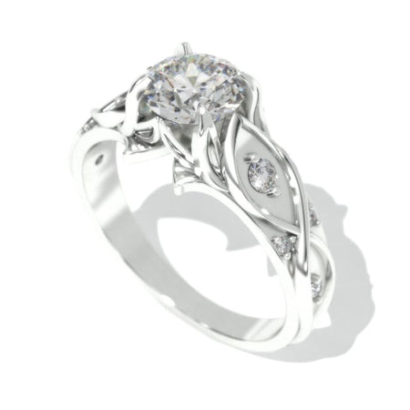 0.7 Carat GIA Diamond Engagement Ring 14K White Gold