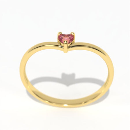 Giliarto Pink Sapphire Gold Promissory Ring