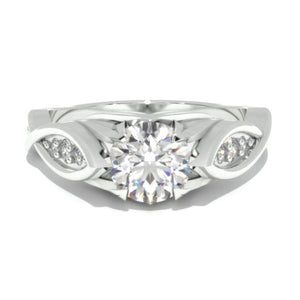0.7 Carat GIA Diamond Engagement 14K White Gold Ring