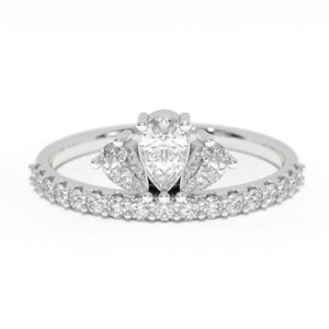 0.6 CTW Forever One Moissanite Diamond  Gold Engagement Ring