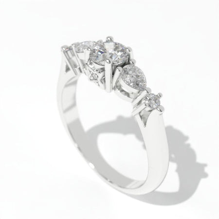 1.0 CTW Giliarto Moissanite Gold Engagement Ring