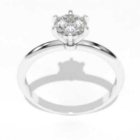 0.7 Carat Diamond Solitaire White Gold Engagement Ring