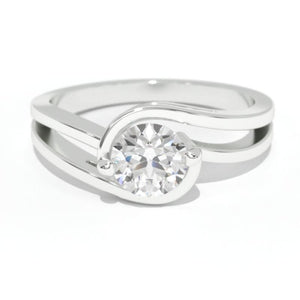 0.7 Carat Diamond White Gold Engagement Ring
