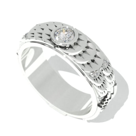 ''Chrysler'' 0.5 Carat  Moissanite Men's  Gold  Ring.