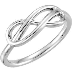 Double Infinity-Inspired Ring 14K White  Gold - Giliarto