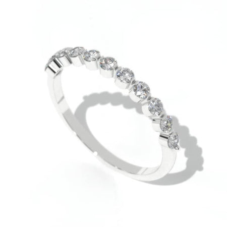 0.5 Carat Diamond Giliarto Eternity  Gold Ring