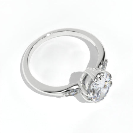 Oval Moissanite 14K White Gold Engagement Promissory Ring