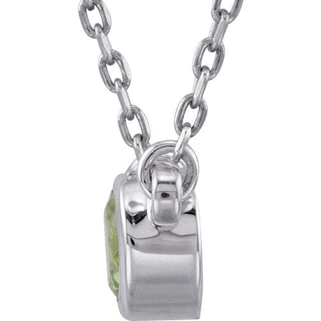 Peridot with sterling silver necklace - Giliarto