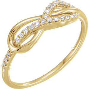 Infinity-Inspired Ring 14K Yellow Gold - Giliarto