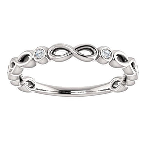 Anniversary Band 14K White Gold .06 CTW Diamond - Giliarto