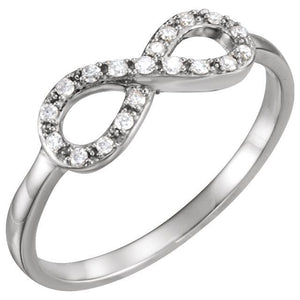 Infinity-Inspired Ring 14K Gold 1/10 CTW Diamond - Giliarto