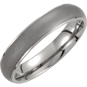 Titanium Oxidized Center Ridged Band - Giliarto