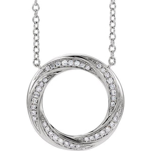 1/10 CTW Diamond Bar 18''  Necklace - Giliarto