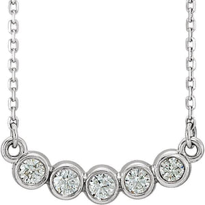 "1/3 CTW Diamond Bezel Set 18"" Necklace - Giliarto"