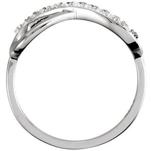 Infinity-Inspired Ring 14K Gold .05 CTW Diamond - Giliarto