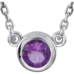 Amethyst with sterling silver necklace - Giliarto