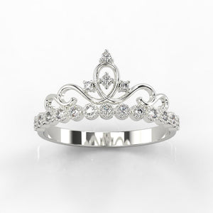 """Luxury Living"" Diamond Tiara  Ring - Giliarto"