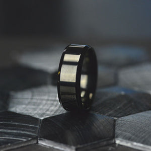 Black Stainless Steel  Wedding Rings Engagement Ring