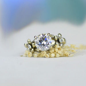2.0 Carat Moissanite Gold Engagement Ring