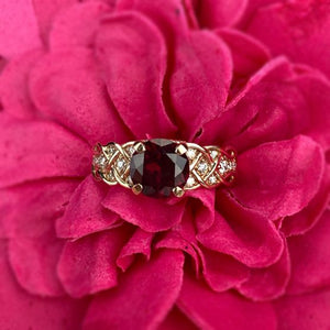 2 Carat Red Ruby Giliarto Gold Engagement Ring