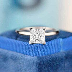 2 Carat Princess Cut Moissanite Diamond  White Gold Giliarto Engagement Ring