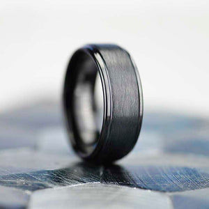 Black Tungsten Carbide Ring