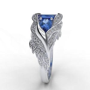 Giulia Wings Blue Topaz and Diamond Ring
