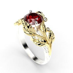 2.0 Carat Sapphire/Ruby Diamond Gold Engagement Ring