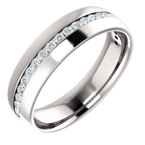 14K Gold 0.6 CTW Diamond Round Comfort-Fit Band